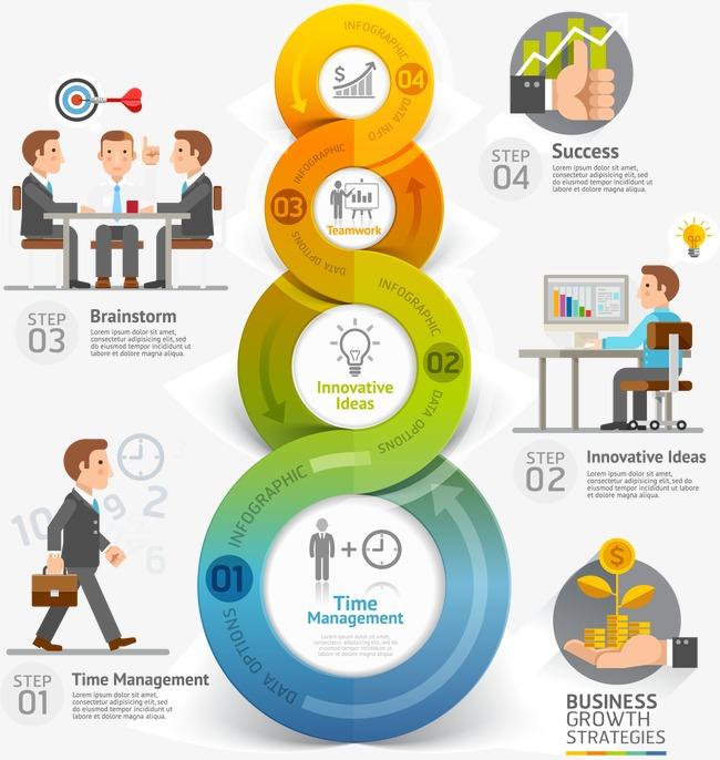 个性商务信息图表设计矢量素材