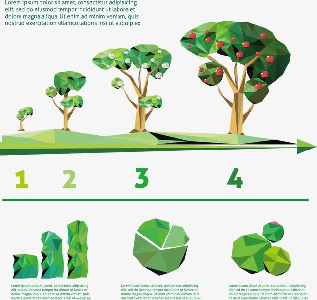 设计元素 科技素材 信息图表 > 几何图形组成的果树信息图表图片免费