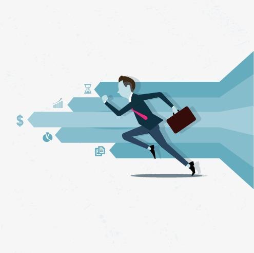 商务人士广告设计矢量素材(5)电灯泡图片蓝色电灯泡