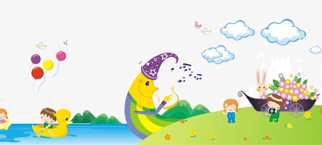 卡通萌萌一家人河边游玩(图片编号:15745247)