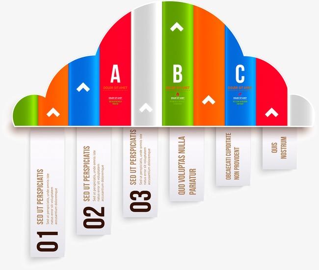 商务信息图表示意图图片下载商务信息云朵多彩示意图图表流程说明统计