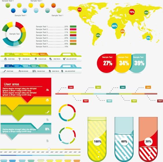 数据报告图矢量素材,数据,数据图