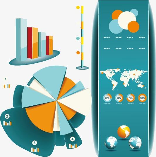 信息图形和图表的设计元素矢量素材