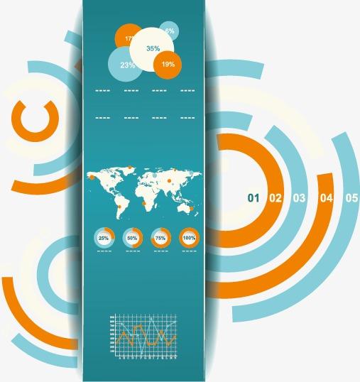 矢量素材,图片下载圆饼图柱状图世界地图地球信息