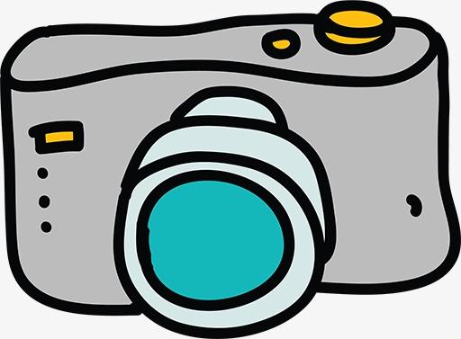 手绘相机手绘卡通相机灰色-手绘相机素材图片免费下载 高清png 千库