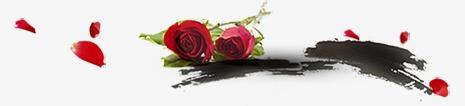水墨玫瑰花图片