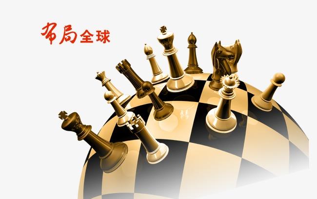 下棋卡通背景素材