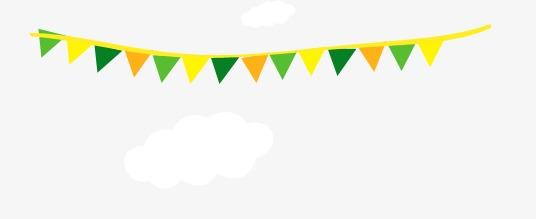 三角形素材彩旗