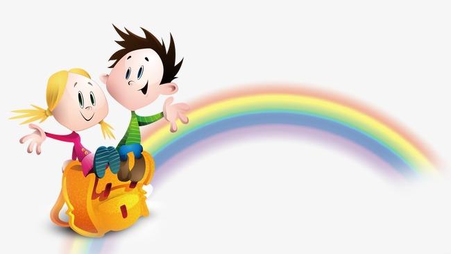 彩虹矢量卡通人物