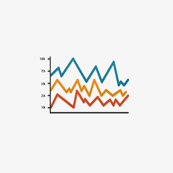折线箭头_折线图png素材-90设计