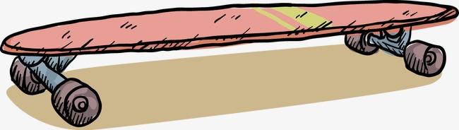 手绘运动滑板