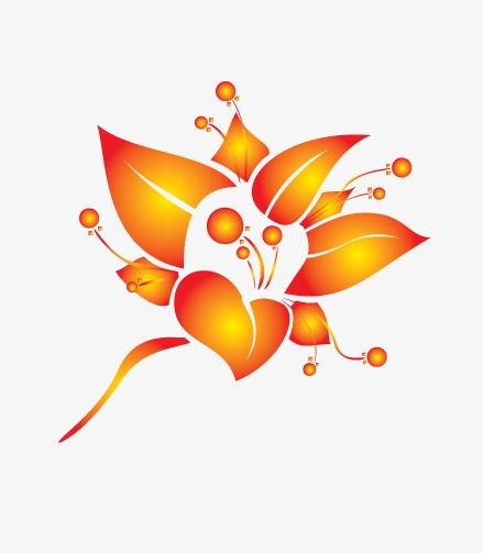 矢量花卉元素平面展示设计素材图片