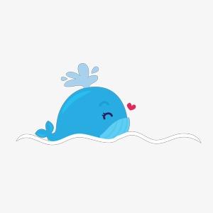 可爱小鲸鱼的画法法