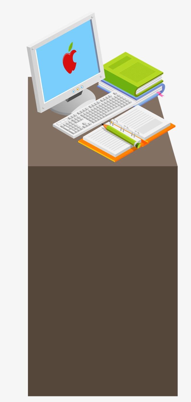 手绘办公桌子