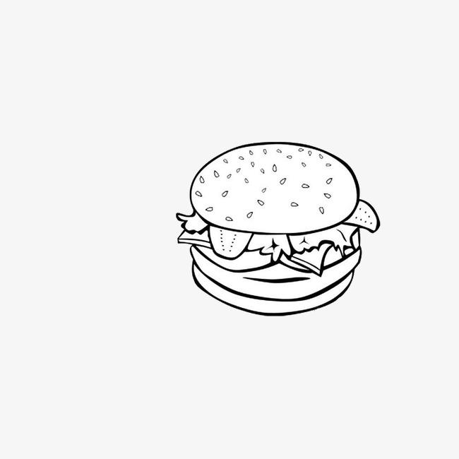 汉堡设计结构素描
