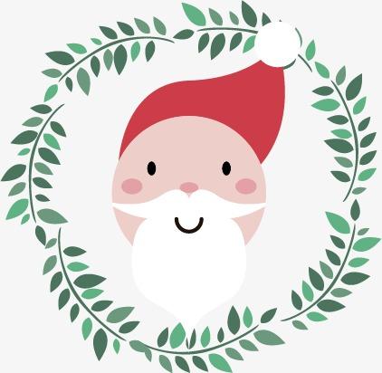 可爱圣诞角色头像矢量素材