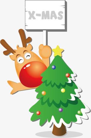 通冬季儿童圣诞驯鹿