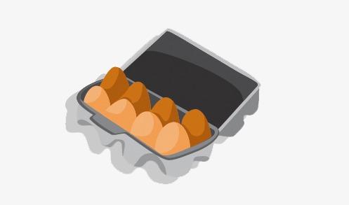 手绘一盒鸡蛋png素材-90设计