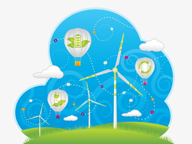 绿色太阳能环保ppt矢量素材(图片编号:15395124)
