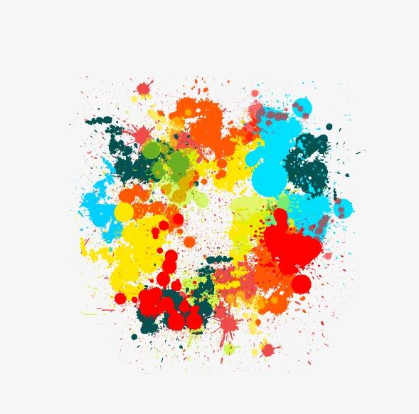 水彩晕染高清素材矢量图