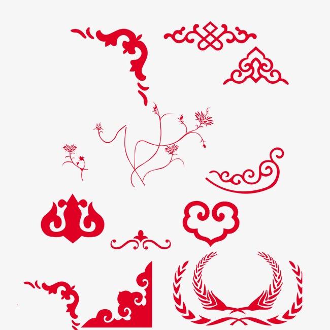中国传统图案花窗边框