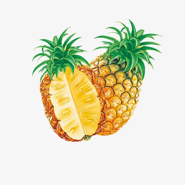 手绘菠萝图片