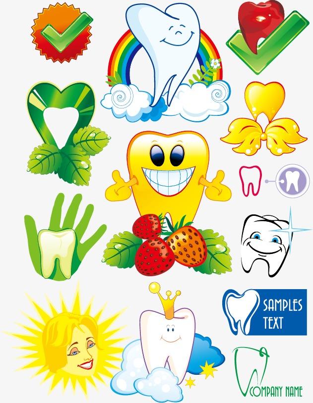 设计元素 其他 装饰图案 > 保护牙齿卡通图标矢量素材,  [版权图片]