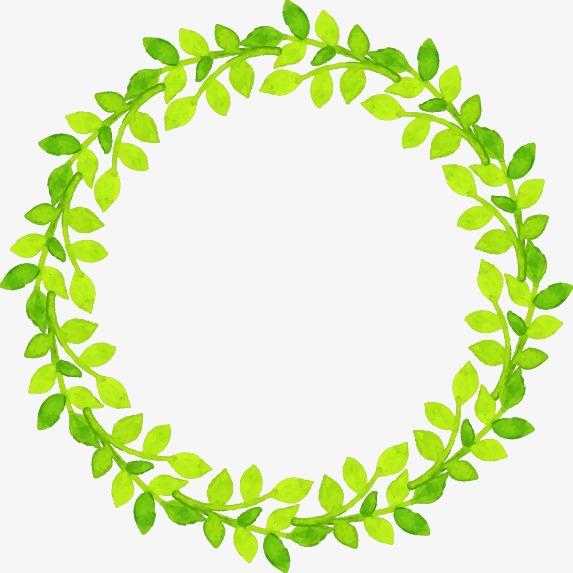 花边边框简笔画相关图片下载 绿色植物图片唯美手绘-森系复古手绘插画