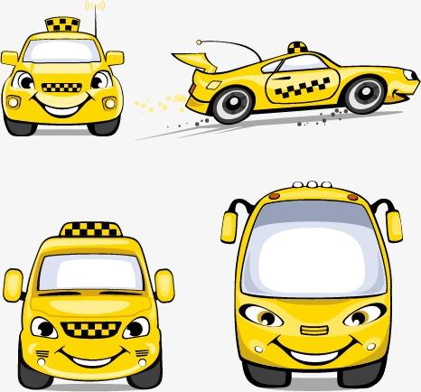 小汽车,矢量素材,吉普车,小轿车,出租车,警车 乐乐简笔画
