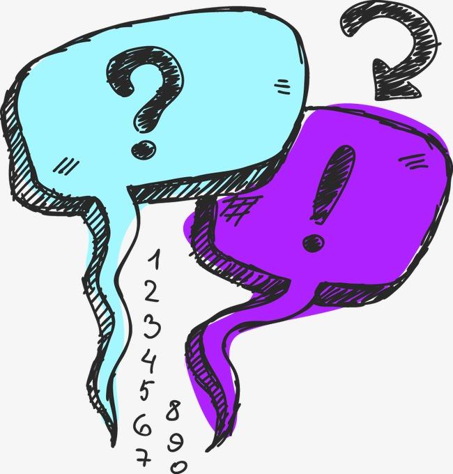 手绘彩色对话框