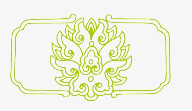 古典矢量花纹图案
