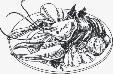 手绘海鲜图标(图片编号:15400265)
