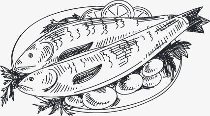 手绘海鲜图标(图片编号:15400259)