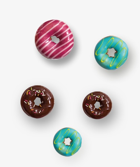 设计元素 其他 装饰图案 > 彩色甜甜圈