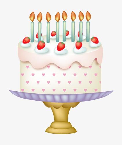 手绘立体生日蛋糕图片