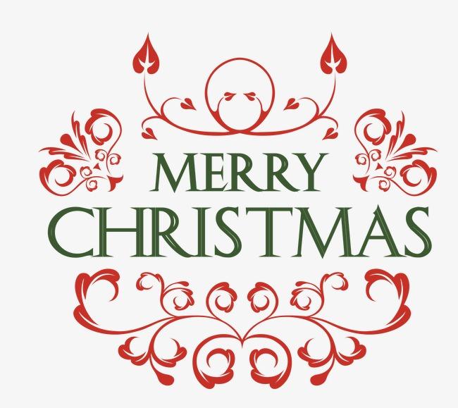 圣诞节装饰文字标签