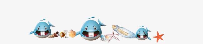 小海豚卡通图案海洋动物