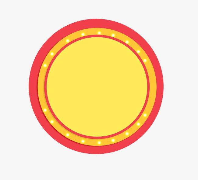 红空心圆圈素材