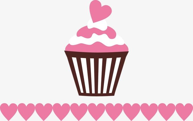 粉色爱心蛋糕