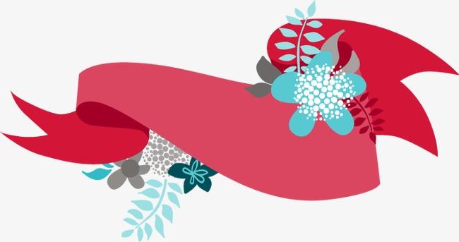 手绘红色不规则形状简约花朵图案