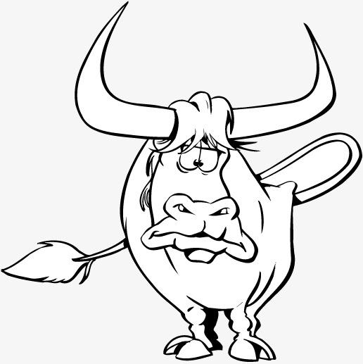 卡通动物牛