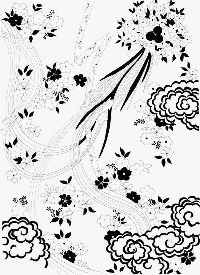 平面构成黑白装饰图案纹样jpg