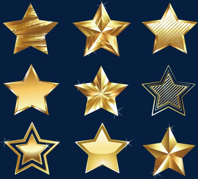 金色五角星图片
