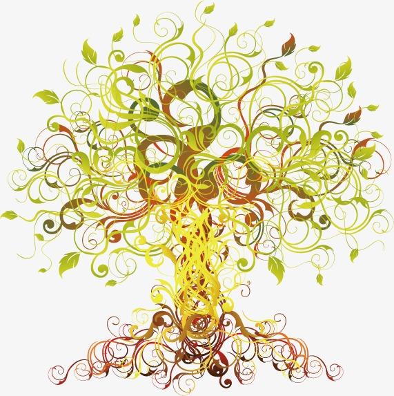 创意缤纷大树图片图片下载创意设计素材装饰图案矢量素材大树树木花纹