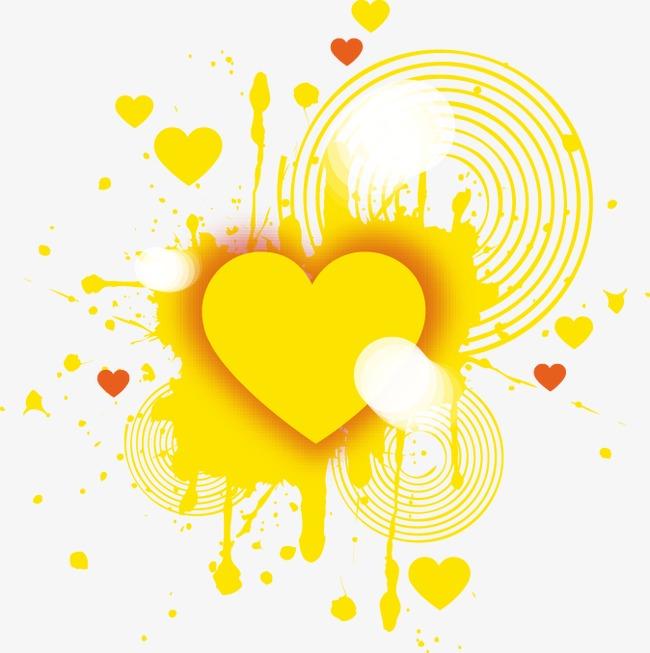 黄色卡通边框素材