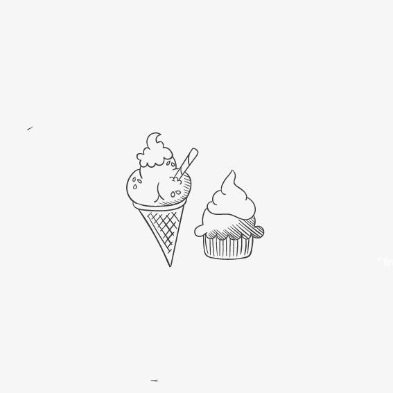 动物冰淇淋简笔画图片大全