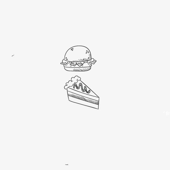 手绘大汉堡简笔画