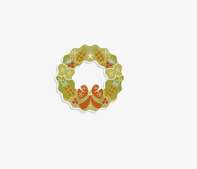 手绘卡通花环(图片编号:15398101)_装饰图案_我图网