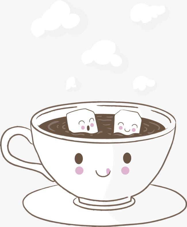 卡通咖啡道具矢量图设计