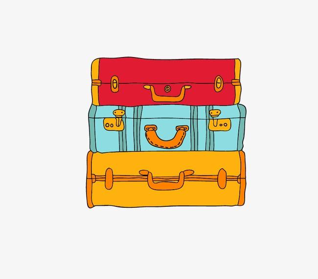 手绘卡通行李箱(图片编号:15398086)